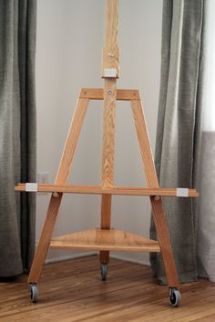 TV easel (Clear finish) by iBalalaika on Etsy