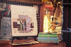 A unique vintage layout using #gypsymoments from #7gypsies
