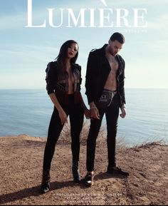 Don Benjamin liane v photo shoot with lumiere magazine photograph by Edwin j ortega high fashion power couple editorial beach