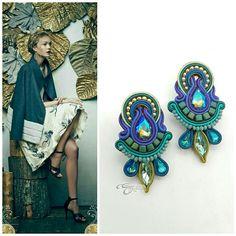 Boho Jewelry, Jewelery, Handmade Jewelry, Wallis Simpson, Shibori, Beaded Earrings, Beaded Bracelets, Soutache Necklace, Brick Stitch