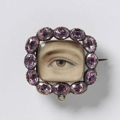 The Me I Saw | Lover's eye brooch, 1800, London.