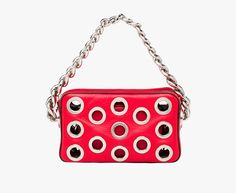 Prada Woman - Prada Metal Top Handle Lacquer Red Calf Leather Bag  w removable pouch 74073100cc7b9