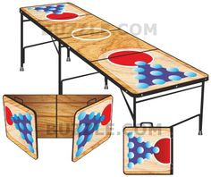 Have fun playing the game after you make your own beer pong table.