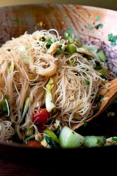 Stir-Fried Rice Stick Noodles With Bok Choy and Cherry Tomatoes Recipe - NYT Cooking