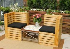 Fauteuils de jardin en palettes de bois