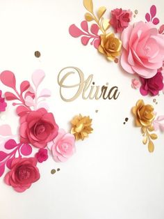 Nursery Paper Flowers   Paper Flowers Over The Cribs   Hanging Paper Flower  Wall Decor Part 49