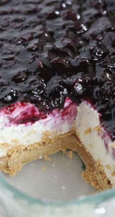 No-Bake Cheesecake Bars with Fresh Blueberry Sauce Recipe
