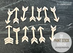 diy wooden arrow ornaments |  | 4men1lady for Remodelaholic.com