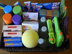 Last Day of School goodie basket; water themed