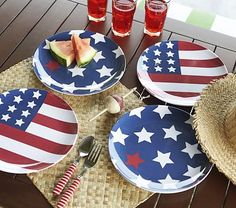 16 Piece Lillian Vernon Patriotic American Flag Americana