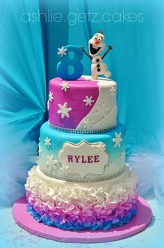 Frozen Olaf cake by ashlie.getz.cakes