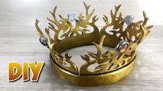 DIY Coroa Rei Joffrey de Game of Thrones. Game Of Thrones Decor, Game Of Thrones Party, Game Of Thrones Costumes, Game Of Thrones Joffrey, Crafts For Kids, Diy Crafts, Diy Crown, Diy Games, Diy Party Decorations