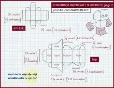 Chibi Robot Papercraft Blue Print 2 by markcrilley