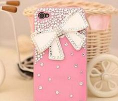 iPhone case pink and bling