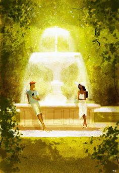 pascal campion: Chocolate and Vanilla meet in a park.