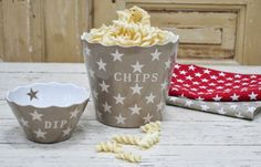 Krasilnikoff-Snacks-Dip-Sweet-Stars-Schuessel-Taupe-Star-Chips