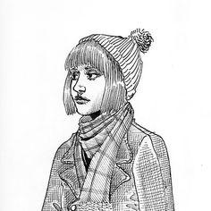 #girl #blackandwhite #characterdesign #winter Character Design, My Arts, Comics, Instagram, Winter, Illustration, Illustrations, Winter Time, Comic Book