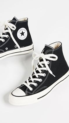 Converse All Star High Top Sneakers Converse All Star, Converse 70s, Converse Style, Converse Sneakers, Sneakers Fashion, High Top Sneakers, High Top Converse, Shoes High Tops, Converse Shoes High Top