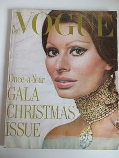 February 1970 VOGUE Vintage SOPHIE LOREN Cover