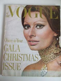 February 1970 VOGUE Vintage SOPHIE LOREN Cover
