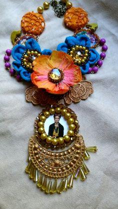 Collar inspirado en Frida kahlo diseñado por #Deseos Divinos#Guadalajara, Jal.