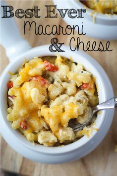 BEST EVER Baked Macaroni and Cheese - try it once and you'll never make a different recipe!