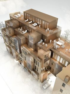 """archiscene: """" New Apartment Building in UNESCO World Heritage Site in Riga by United Riga Architects """""""