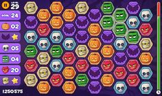 Cute game graphics MonsterSwipeGame #gameui