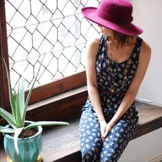 Navy Floral Jumpsuit!  Button-up navy floral jumpsuit. Super cute, comfy, and so effortless! Pants Jumpsuits & Rompers