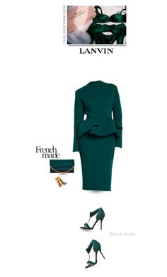 """""""Classy is when a woman has everything to flaunt but chooses not to show it"""" by blonde-bedu ❤ liked on Polyvore featuring Lanvin, Paul Andrew and Elie Saab"""
