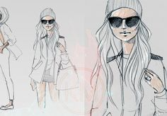 @Sincerely Jules  beanie love #beanie #sketches #fashion #illustrations