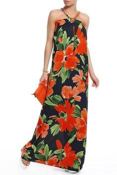 длинное платье оранжевого цвета, на лето, с цветочным узором Dresses, Fashion, Gowns, Moda, Fashion Styles, Dress, Vestidos, Fashion Illustrations, Gown