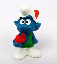 Vtg Smurfs Peyo TYROLESE Smurf 20081 Schleich Germany Bully PVC Figurine Toy #Schleich