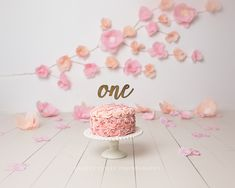 CakeSmashPhotography – Page 2 1st Birthday Cake For Girls, 1st Birthday Photoshoot, Pink Birthday Cakes, 1st Birthday Pictures, 1st Birthday Cake Smash, Girl Birthday Themes, Birthday Balloons, Baby Birthday, Birthday Decorations