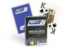 Cartes Fournier EPT Gold (bleu) - Pokeo.fr - Jeu de 55 cartes Fournier European Poker Tour Gold Édition, dos bleu. Qualité 100% plastique.