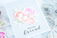 **VIDEO** Loose Watercoloring w/ Wplus9 Modern Anemones & Modern Peonies – Scraps & Stamps