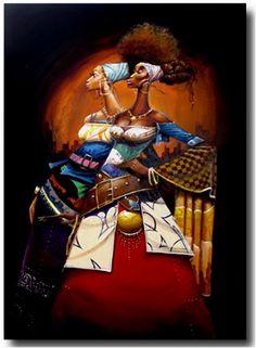 Frank Morrison -Proud Divas : Black art prints & African American Art & Gifts African American Artist, American Artists, African Art, Black Art Painting, Black Artwork, Caricatures, Frank Morrison Art, Divas, Black Love Art