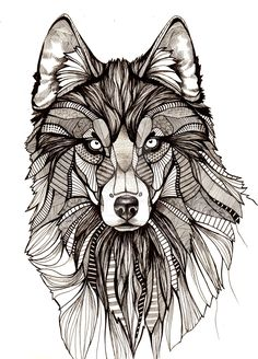 Wolf by aofie-fionn.deviantart.com on @DeviantArt