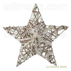 Estrella árbol Navidad relieve blanca 40
