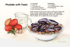 Mussels with pasta