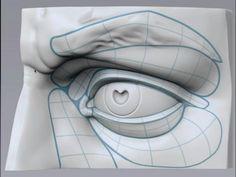 I'd zbrush that. Eye Anatomy, Facial Anatomy, Anatomy Art, Human Anatomy, Anatomy Sketches, Anatomy Drawing, Drawing Tips, Drawing Tutorials, Painting Tutorials