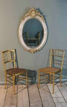 Antique French Oval Gilt Mirror in from On The Wall Antiques