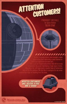 Death Star recall notice by Timm Over