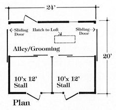 Nine Small Horse Barn Plans - Complete Pole Barn Construction Blueprints Horse Shed, Horse Barn Plans, Horse Stables, My Horse, Horse Farms, Dream Stables, Barn Garage, Garage Plans, Pole Barn Construction