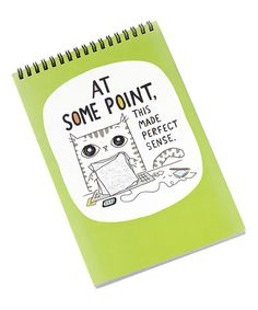 Another great find on #zulily! Green 'At Some Point' Cats at Work Steno Pad #zulilyfinds