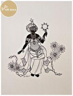 Orisha, Tattoo Drawings, Body Art Tattoos, African Mythology, Goddess Of The Sea, Religion, Afro, Unicorns And Mermaids, Feminine Mystique