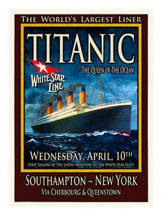 Titanic White Star Line Travel Poster 2 Transportation Giclee Print - 46 x 61 cm Titanic Art, Titanic Poster, Rms Titanic, Titanic History, Cool Posters, Travel Posters, Movie Posters, Nancy Tillman, Flying Boat