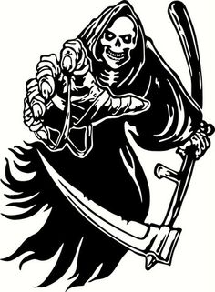 Grim Reaper Reaching Vinyl Cut Out Decal, Sticker in your choice of Co – Vinyl Ink Design