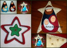 Decorações de Natal em feltro