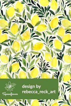 Citrus Cottage •~• Lemons watercolor light by rebecca_reck_art